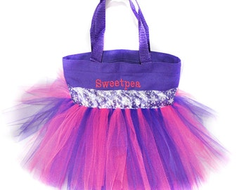Snowflake Party Favors Tote Bag, With FREE Monogram Name Embroidered on the Bag, Personalized Girl Dance Bag, Fairy Bag, Ballet Bag