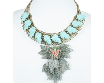 Turquoise Statement Necklace  N4920