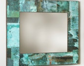 32x37 Copper Border Mirror