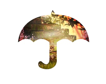 Fantasy Umbrella -Digital Immediate Download-Flowers-Background-Banner-Jewelry-Scrapbook-Digital Clipart-Gift Tag-Gift Cards-Notebook.