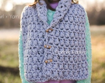 Crochet Pattern   Wrap and Scarf   Instant Download   Child, Adult Sizes Included   Sunset Chill by Girl Plus Yarn