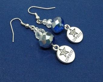 Cowboys Earrings,Sports Jewelry