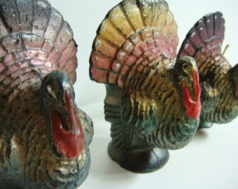 Gurley Turkey Candles -Set of 3 Thanksgiving Turkey Candles
