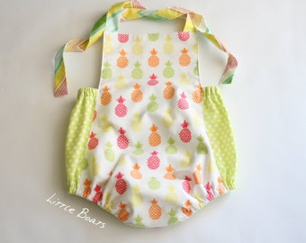Pineapple sunsuit romper