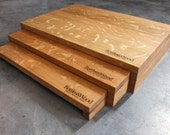 Set Of Three Upcycled Oak Barrel Stave Nested Stands