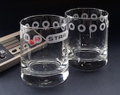 Konami Code Lowball Glasses