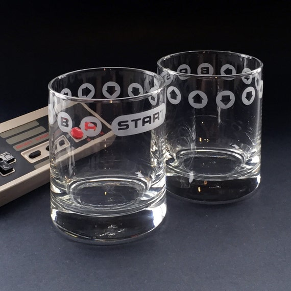 Konami Code Lowball Glasses