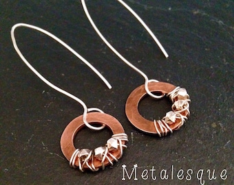 Copper Washer Earrings