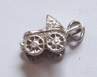 Baby Carriage Sterling Silver Charm