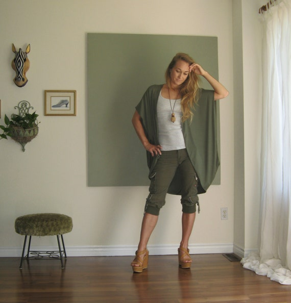 Boho Chic Oversized Sleeveless Cardigan Sweater Vest Wrap Long