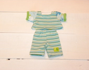 Striped Top and Shorts - 14 - 15 inch doll clothes