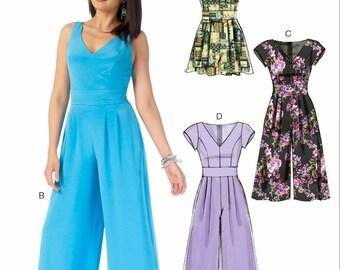 Ladies Wide Leg Jumpsuit Pattern, Ladies Wide Leg Romper Pattern, McCall's Sewing Pattern 7167