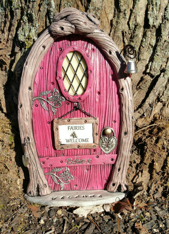 Fairy door personalized 1037 gnome hobbit elves for The little fairy door company
