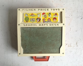 Vintage Fisher price Desk, Portable School Desk 176 Classic Toy