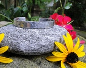 Textured Sterling Silver Cuff Bracelet - To The Moon And Beyond