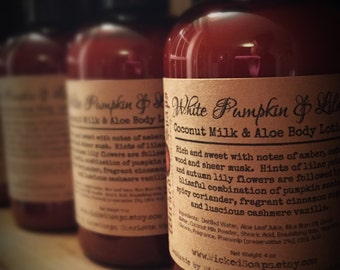 White Pumpkin and Lilac Body Lotion - Coconut Milk & Aloe Body Lotion with Cocoa Butter