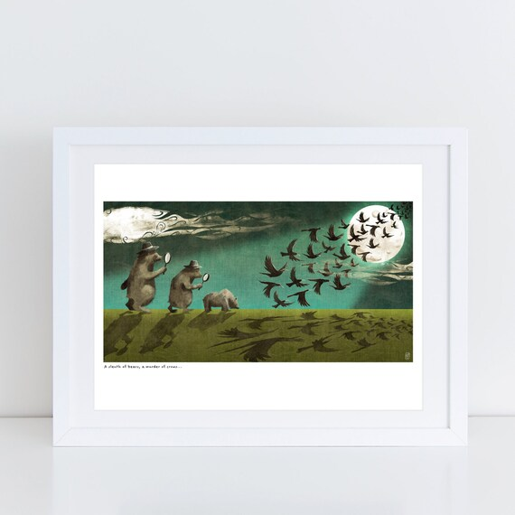 An Ambush of Tigers! (A Sleuth of Bears) - Signed Print from An Ambush of Tigers book