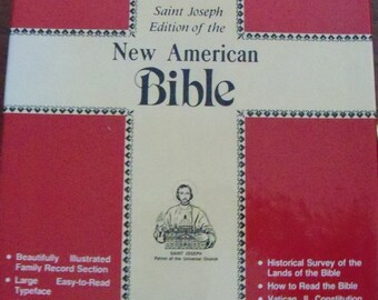 New In Box Bible, St. Joseph Edition, The New American Bible, 1986, Completely Unused, Completely New, Beautiful Illustrations, Presentation
