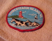 Vintage 1970s  Sew On Chincoteague Island Virginia Travel Patch