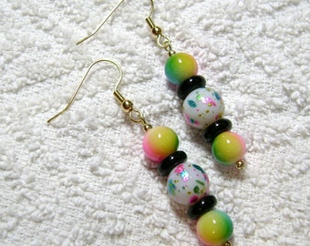 Cotton Candy Passion Earrings - Earrings - Rainbow Speckles - Jewelry - E-156