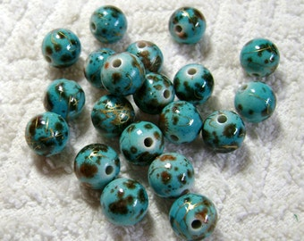 DodgeBlue Spray Painted Drawbench Acrylic Beads - Round Beads - (12mm) - (20 Pcs) - B-1746
