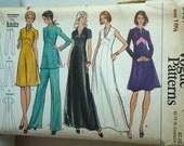 70s Misses & Half Size Dress Tunic Pants VOGUE Sewing Pattern 8467 Size 18 1/2 Bust 41 UnCut