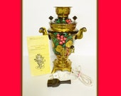 Vintage Russian Samovar, Tula, Electric, Tea Pot, 1988, Never Used, 4 lbs, 12 oz., Boil Water for Tea, Hand Painted