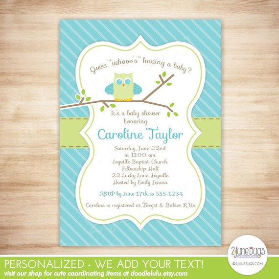 Owl baby shower invitation baby boy shower owl stripes invite il570xn filmwisefo