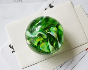 Green Art Glass Paperweight