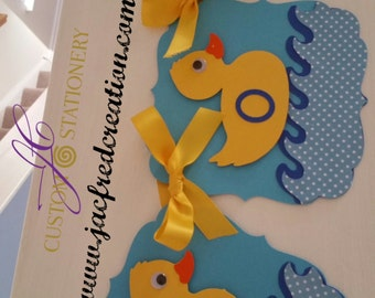 Rubber Duckie baby shower banner
