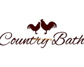 Country Bath Rooster - Wall Decal - Vinyl Wall Decals, Wall Decor, Bathroom Wall Decals, Country Wall Decals, Bathroom Decor, Rooster Decal