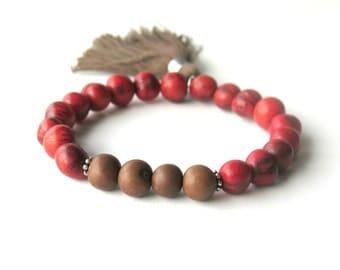 Bohemian Acai Bracelet - Red - Acai Bracelet - Wear Anywhere
