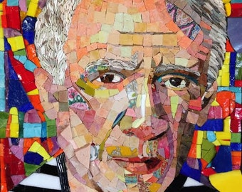 Lost In Picasso Mosaic portrait of Pablo Picasso ... SOLD