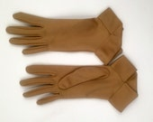 Vintage Taupe Cloth GLoves
