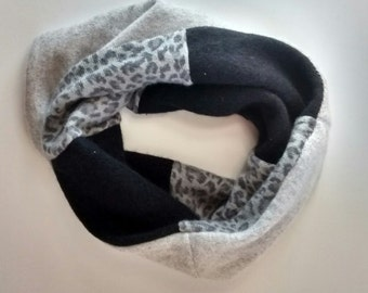 Cozy Cashmere Cowl, reversible, TWO FOR 40 dollars, use coupon code: NECKSALE, neutral, black, gray