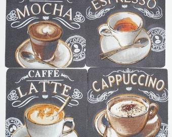 Coffee coaster set of 4