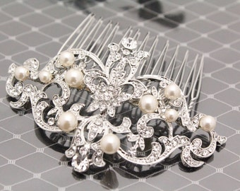 Bridal hair accessories,Pearl hair clip,Wedding hair comb pearl,hair comb,Wedding headpiece,Bridal hair piece,Wedding hair accessories,pearl