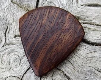 Handmade Premium Wood Mini-Guitar Pick - Caribbean Rosewood - Smaller than standard size guitar picks