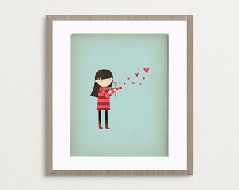 Blowing Bubbles - Customizable 8x10 Archival Art Print