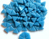 MINI Turquoise Lake Blue Triangle Shaped Mosaic Tiles 10mm//Recycled Glass Tiles//Mosaic Supplies//Jewelry Supplies//Mosaics