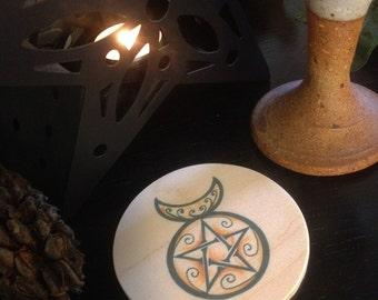 Horned God, Horn Moon Altar Tile