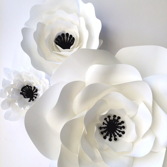 white paper flowers paper flower wall paper flower table top