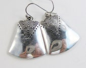 SALE Tribal Spirit,Tribal Earring,Gypsy Earring,Earring,silver earring,Tribal Jewelry,Boho,Hamsa,Boho Earring,Hoop Earring.valleygirldesign