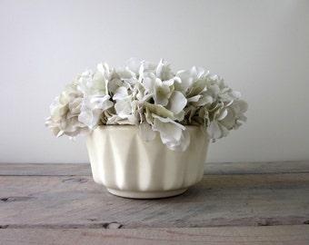 White Pottery Planter