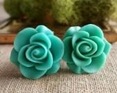 Flower Plugs, Wedding Gauges, Prom Plugs, Aqua, Roses