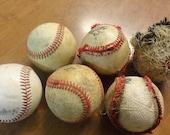 Vintage Baseballs Lot Baseball Deconstructed Strip Down