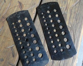 Vintage DRILL GAUGEs PEC Tools A-Z Pair