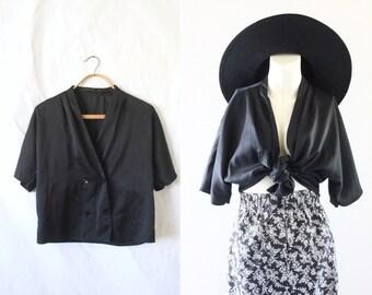 S A L E black silky top