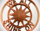 John Lennon We All Shine On Wood Carving with Sunburst