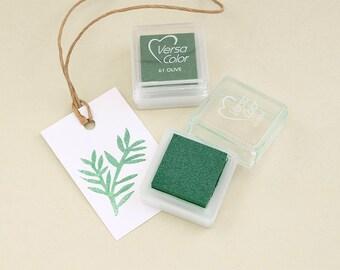 Ink Pad VersaColor Olive No. 61   water-based  non-toxic   pigment ink  STUDIO KARAMELO